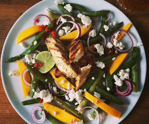 Chicken, healthy, and mango image