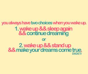 Dream, choice, and sleep image