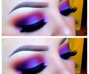 eyeshadow, makeup, and make up image