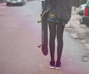 girl, skate, and batman image