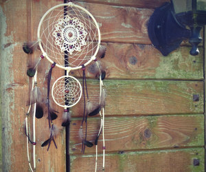 boho, crochet, and dream catcher image