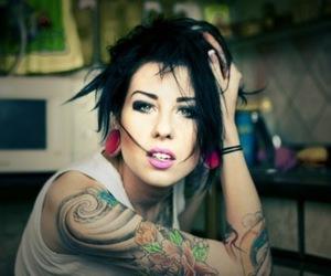 tattoo, girl, and Plugs image