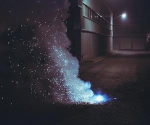 grunge, light, and night image