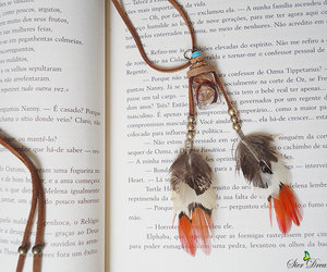 feather necklace, feathers, and bohemian style image