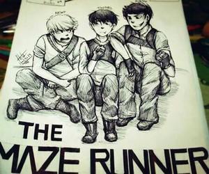 Minho, newt, and the maze runner image