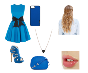 azul, conjunto, and dress image