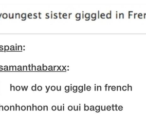 french, funny, and tumblr image
