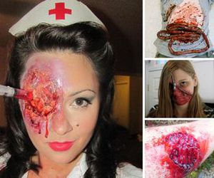 Halloween, tutorial, and wound image