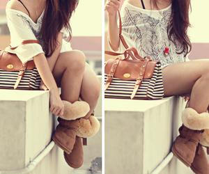 amazing, boots, and brunette image