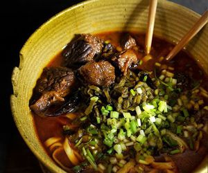 beef, chilli, and noodles image