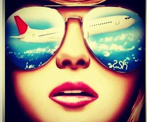plane, sky, and cabin crew image