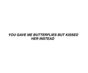 black and white, butterflies, and feelings image