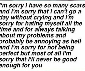hurts, pain, and sorry image