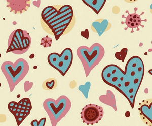 wallpaper, hearts, and cute image