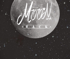 black and white, frases, and moon image