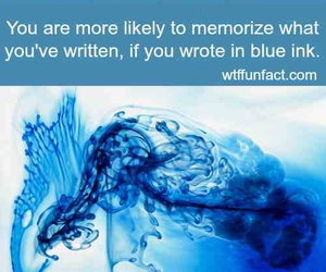 blue, memorize, and wtf fun fact image