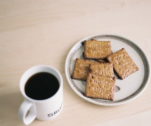 food, coffee, and cookie image