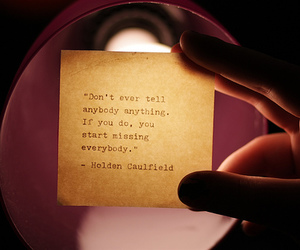 holden caulfield, quote, and text image