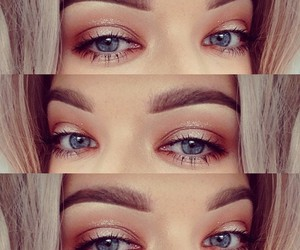 beauty, blue eyes, and brows image