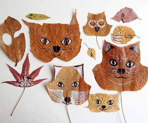 cool, diy, and leaves image