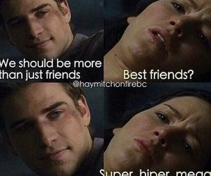 funny, gale, and katniss image