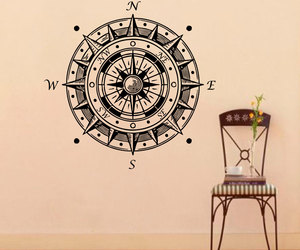compass, decal, and nautical image