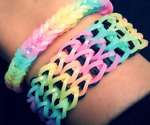 bracelets, loom bands, and colors image