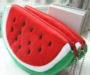 watermelon, cool, and pencil case image