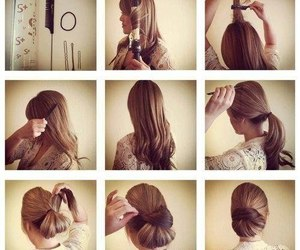 girl, hairstyle, and love image