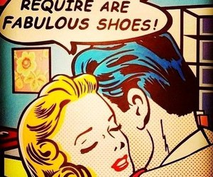 shoes, funny, and pop art image