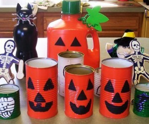 black cat, cans, and cat image