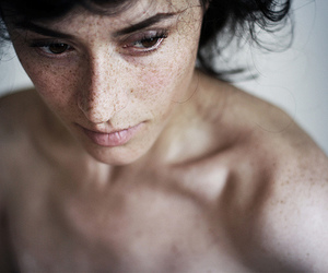 freckles, naked, and girl image