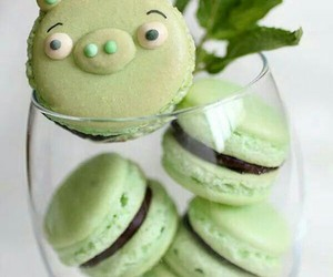 macaroons, food, and green image