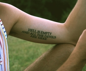 boy, text, and tattoo image