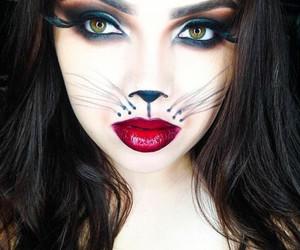 Halloween, makeup, and cat image