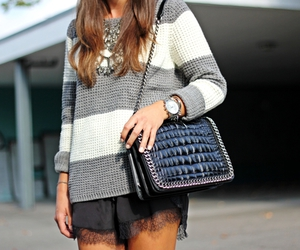 bag, necklace, and style image