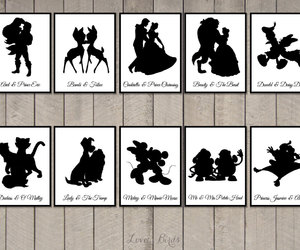 disney, silhouette, and wedding image