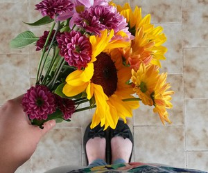 daisies, life, and sneaker image