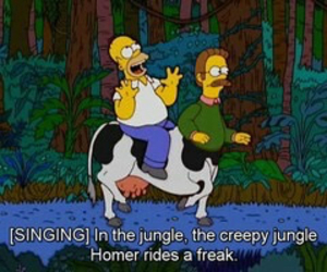 homer, funny, and the simpsons image