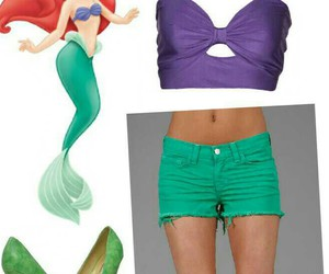 ariel, the little mermaid, and clothes image