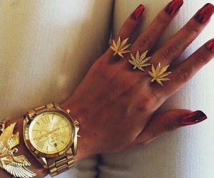 gold, nails, and weed image