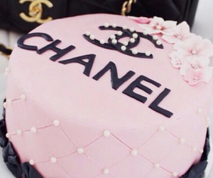 cake, chanel, and pink image