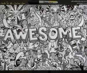 awesome, doodle, and draw image