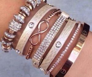 beautiful, bracelet, and diamonds image