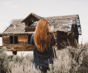 girl, house, and redhead image