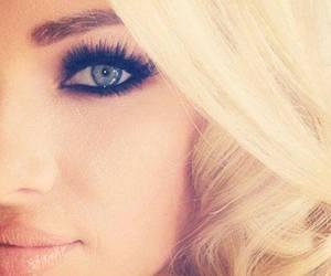 blonde, eyes, and make up image