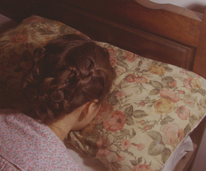 girl, pillow, and vintage image
