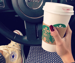 coffee, converse, and fashion image