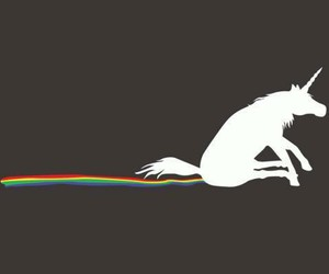 unicorn, rainbow, and funny image