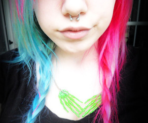 hair, piercing, and sweet image